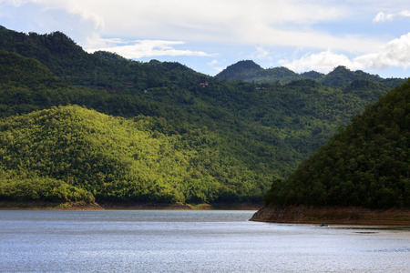 pine creek: Lake and highland mountains - Srinakarin dam national park.
