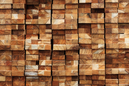 Hout hout bouwmateriaal voor de achtergrond en textuur. Stockfoto