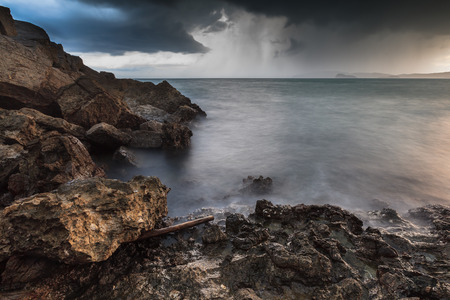 View of storm, Seascape.