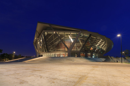 cherished: Nakhon Pathom, Thailand - July 26, 2015: Prince Mahidol Hall, The vision of a grand hall as the proper venue for the graduation ceremony has been a long cherished dream of Mahidol University.