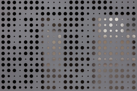 drilled: Pitted metal plate background texture.