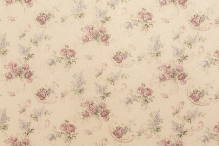 fabric painting: Flowers backdrop pattern on wall background texture.