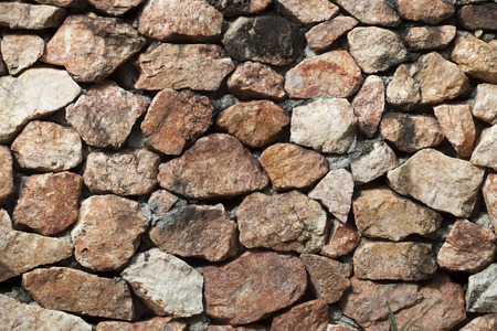 stacked stone: Stacked Stone Wall with Shade background texture.