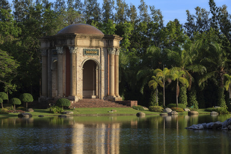 assumption: Bangkok, Thailand - August 9, 2015: The Antique of Pavilion in the park at Assumption University, Thailand.