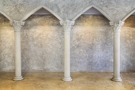 pillar: Classic Ancient Interior with Columns.