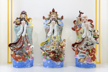 gods: Hock Lok Siew or Fu Lu Shou, three gods of Chinese