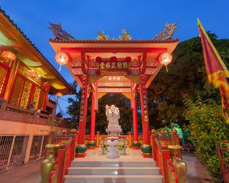 chachoengsao: Shrine of Golden Gautama Buddha or Katyayana or Kasennen statue.