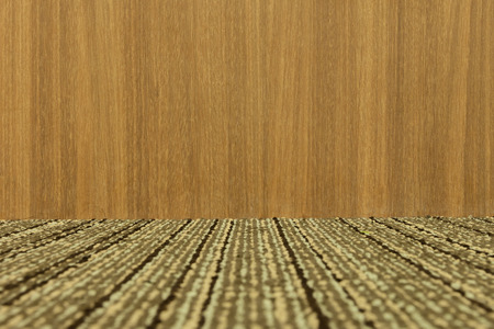 carpeting: Empty room with wooden wall and carpeting floor. - (Depth)