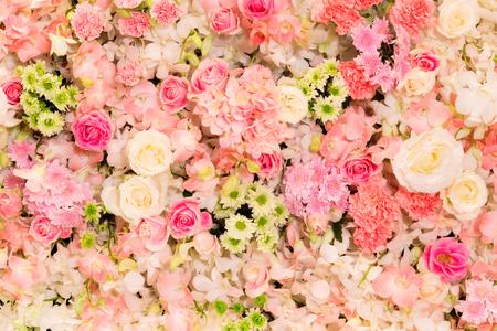 floristic: gardening, floristic, holidays and flora concept - beautiful flowers assortment. Stock Photo