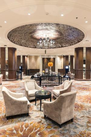 Bangkok, Thailand - November 6, 2015: Interior view of InterContinental Bangkok 's lobby. This place is luxury hotel 5 star in central Bangkok.