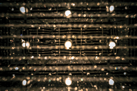 chandelier background: Abstract circular bokeh background of chandelier lamps.