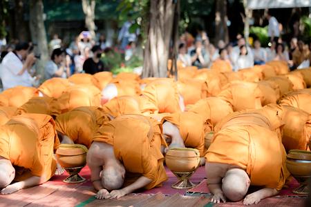 ordination: Thai monks in Ordination ceremony. Stock Photo