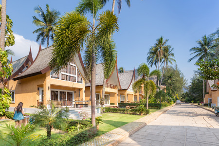 koh kho khao: Traditional Thai house modern architecture near the beach in Thailand.