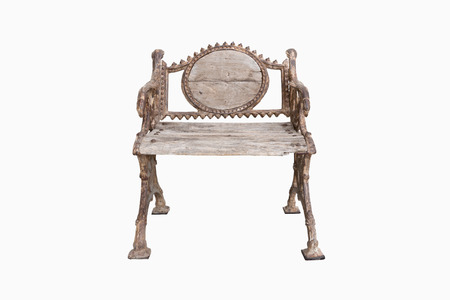 antique chair: Steel chair. Iron chair. Metal chair. Old chair. Antique chair. Wooden chair. Wood chair on isolated white background.