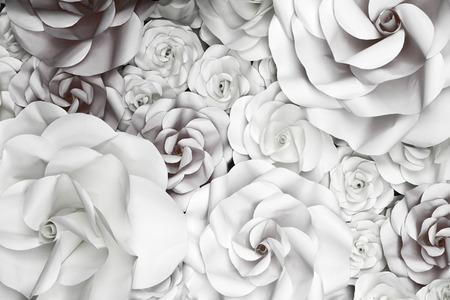 wedding backdrop: Flower Paper Wedding Backdrop background and Texture. Stock Photo