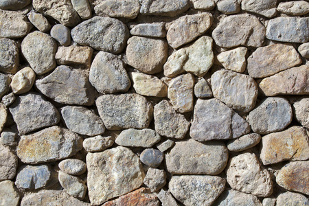 stacked stone: Stacked stone wall background texture.