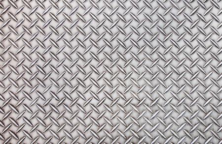 古いスチール ダイアモンド プレート パターン背景テクスチャ。 写真素材
