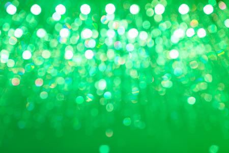light circular: Abstract light circular green bokeh background. Stock Photo