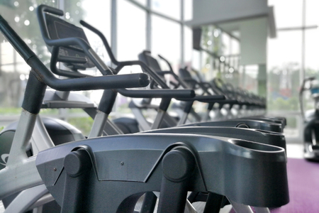 exercice: Part of Airwalk machine at fitness gym.