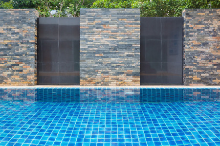 Swimming pool wall background.