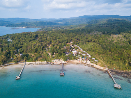 Aerial view of beautiful tropical beach. it's called