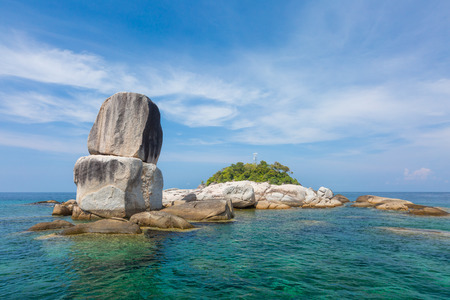Large stones which by Nature Koh Hin Son Island nearby Lipe Island Tarutao National Park Satun Thailand.