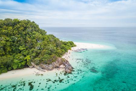 Aerial view of tropical beach Andaman Sea at Koh Khai near Koh Lipe in Satun, in Thailand. 写真素材