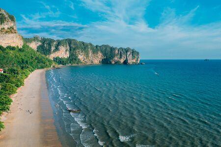 Aerial view of tropical beach Ao-Nang, Krabi , Thailand.