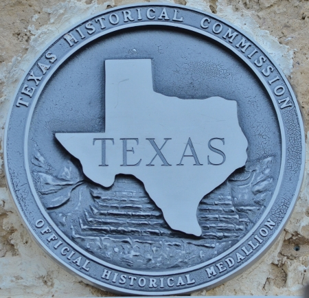 Texas Historical Marker set in stone