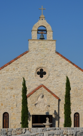 Front view of the church at Adriatiaca in McKinney, Texas Stock fotó