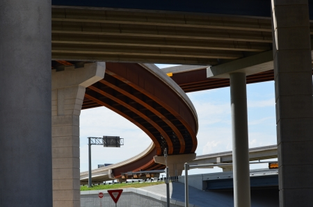 tollway: Street view from underneath the 121 tollway in Frisco Texas