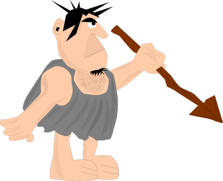 Caveman with a spear  photo