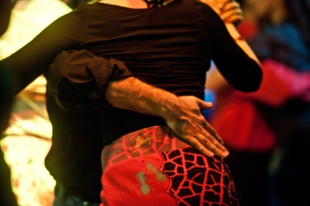 Tango scene in a milonga, Buenos Aires , Argentina