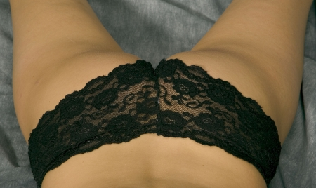 cute ass in black panties Stock Photo - 3973926