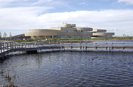 Eiken hangmat Marsh in Manitoba Stockfoto