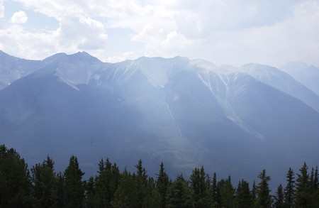 Banff vallei in de Rocky Mountains