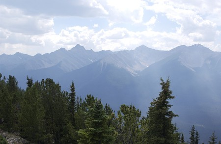 Banff valley in the Rocky Mountains