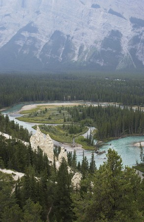Banff Hoodoos in the Rocky Mountains