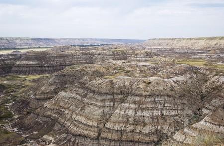 Canadese Badlands van Zuid-Alberta in de buurt van Drumheller Stockfoto