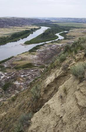 Canadian Badlands of  Southern Alberta near Drumheller Banco de Imagens