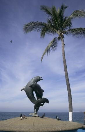 standbeeld op het strand strand in Puerto Vallarta, Mexico