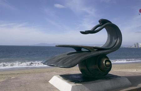 Statue on beach in Puerto Vallarta, Mexico