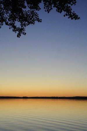 Sunset over Otter Lake, Manitoba, Canada Stock Photo
