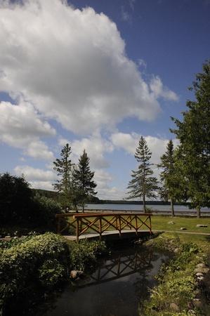 Wishing well, Clear Lake, Manitoba, RMNP, Stock Photo