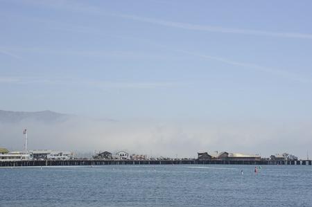 Foggy Santa Barbara habour, California