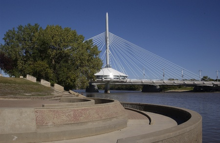 riel:  Esplanade Riel Bridge, Winnipeg, Manitoba           Editorial