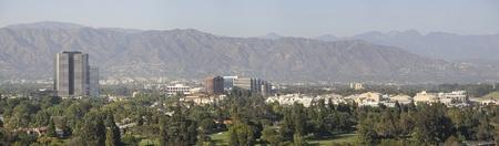 panorama of Universal Studios, California,