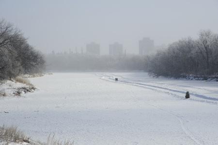 River Trail on the Assiniboine River, Winnipeg, Manitoba