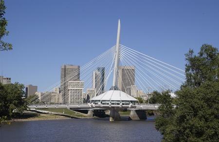 Esplanade Riel bridge, Winnipeg, Manitoba