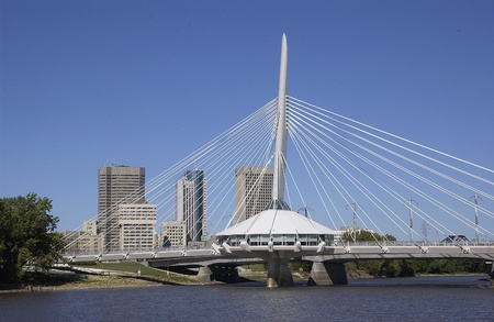 Esplanade Riel bridge, Winnipeg, Manitoba    Stock Photo - 9330166